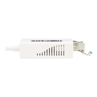 Tripp Lite USB 3.0 Multimode Fiber Optic Transceiver Ethernet Adapter, 10/100/1000 Mbps, 1310nm, 550m, LC - network adapter - USB - 1000Base-X x 1 Transceiver Ethernet Adapter 10/100/1000 Mbps  13