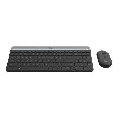 Logitech Slim Wireless Combo MK470 - keyboard and mouse set - graphite