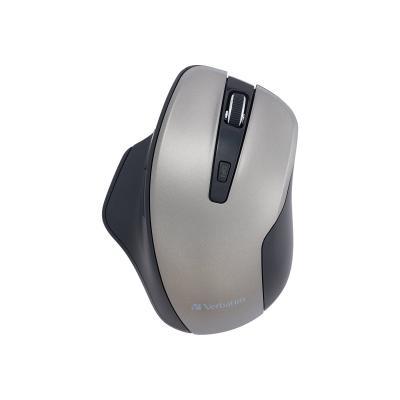 Verbatim Silent Ergonomic Wireless Blue LED Mouse - mouse - 2.4 GHz - graphite  WRLS