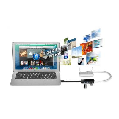 j5create JUH470 - network adapter - USB 3.0 - Gigabit Ethernet x 1 + USB 3.0 x 3 Ethernet / 3-Port USB 3.0 HUB 1 year
