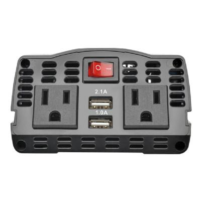 Tripp Lite 375W Ultra-Compact Car Power Inverter with 2 AC Outlets, 2 USB Charging Ports AC to DC - DC to AC power inverter - 375 Watt  PERP