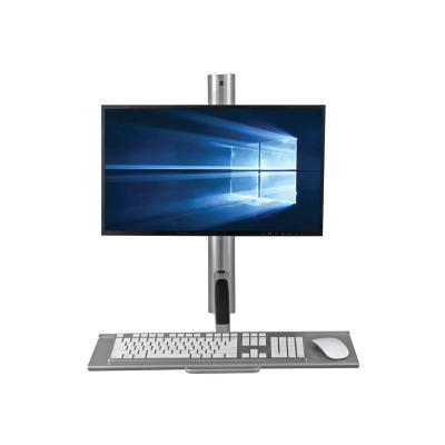 Tripp Lite Single-Display Sit-Stand Wall-Mount Workstation with Thin-Client Mount - mounting kit - for LCD display / keyboard / thin client CLT MOUNT