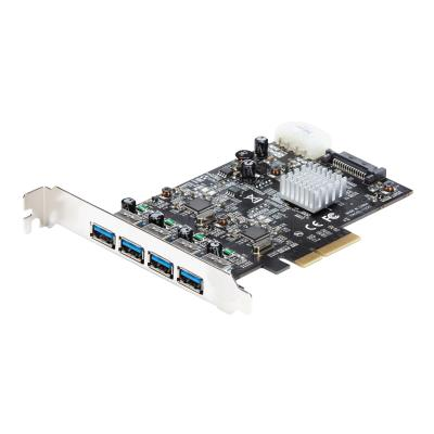 StarTech.com 4 Port USB 3.1 PCI-e Card - 10Gbps - 4x USB w/ Two Dedicated Channels - PCI Express Expansion Card / Adapter (PEXUSB314A2V) - USB adapter  CTLR
