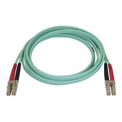 StarTech.com Aqua OM4 Duplex Multimode Fiber - 2m / 6 ft - 100 Gb - 50/125 - OM4 Fiber - LC to LC Fiber Patch Cable (450FBLCLC2) - network cable - 2 m - aqua SR10  SFP+ and QSFP+ transceiv ers in 40 and 100 Gi