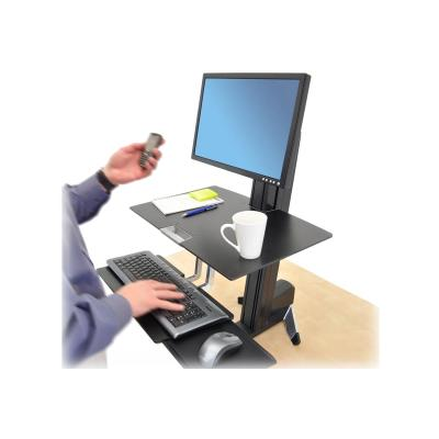 Ergotron WorkFit-S Single HD Workstation with Worksurface Standing Desk - mounting kit - for LCD display / keyboard / mouse n for Mid-Size Monitor  HD  wi th Worksurface and L