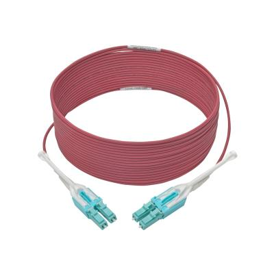 Tripp Lite 10 Gb Duplex Multimode 50/125 OM4 LSZH Fiber Patch Cable (LC/LC), Push/Pull Tabs, Magenta, 10 m (33 ft.) - patch cable - 10 m - magenta  CABL