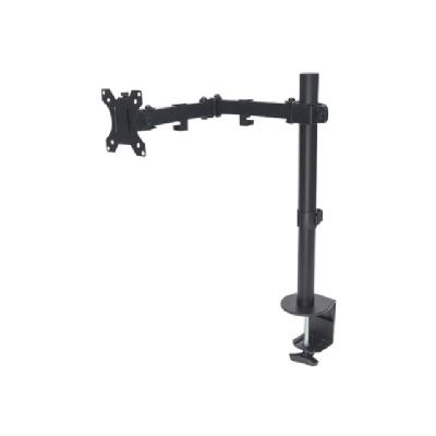 """Manhattan TV & Monitor Mount, Desk, Full Motion, 1 screen, Screen Sizes: 10-27"""", Black, Clamp Assembly, VESA 75x75 to 100x100mm, Max 8kg, Lifetime Warranty - mounting kit itor up to 8 kg (17 lbs.)  Bla ck"""