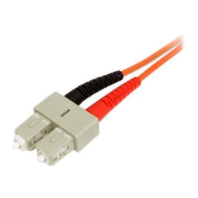 StarTech.com 1m Fiber Optic Cable - Multimode Duplex 50/125 - LSZH - LC/SC - OM2 - LC to SC Fiber Patch Cable (50FIBLCSC1) - network cable - 1 m  CABL