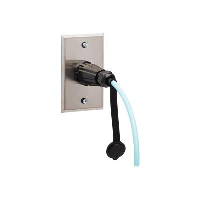 Tripp Lite 10Gb Rigid Industrial Duplex Multimode 50/125 OM3 Fiber Patch Cable (LC/LC) - IP68, Aqua, 1 m (3 ft.) - patch cable - 1 m - aqua ECABL