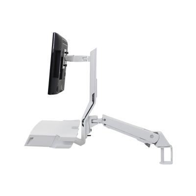 Ergotron StyleView Combo Arm with Worksurface & Pan - mounting kit - for LCD display / keyboard / mouse / barcode scanner RIGHT WHITE TXTURE