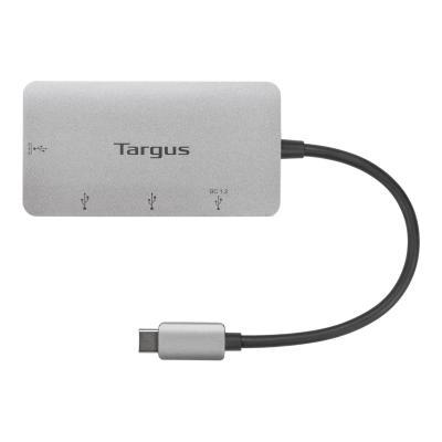 Targus USB-C Multi-Port Hub with 3x USB-A ports and USB-C data / 100W PD Pass-Thru - hub - 4 ports  SLV
