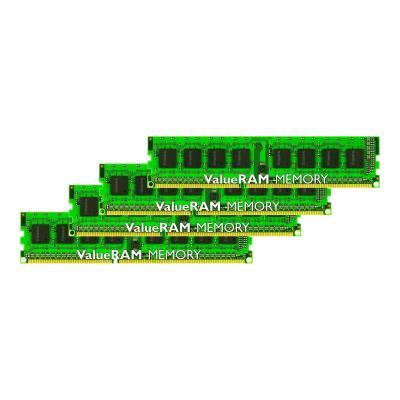 Kingston ValueRAM - DDR3 - 32 GB: 4 x 8 GB - DIMM 240-pin - unbuffered DIMM (kit of 4)