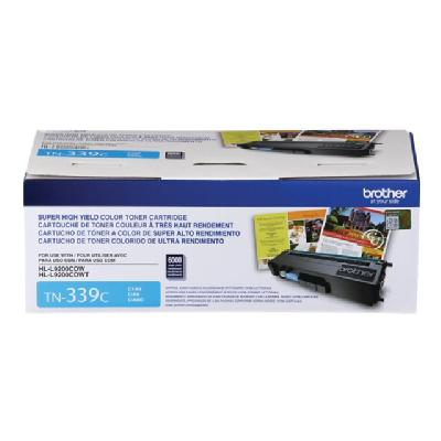 Brother TN339C - Super High Yield - cyan - original - toner cartridge rtridge - Approx. 6 000 pages