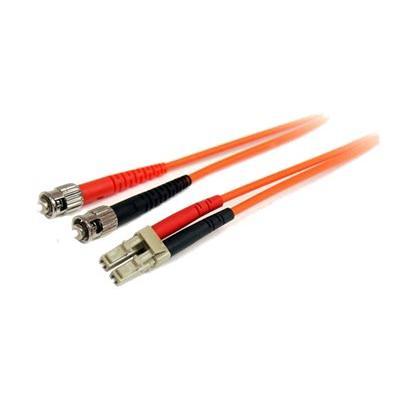 StarTech.com 1m Fiber Optic Cable - Multimode Duplex 62.5/125 - LSZH - LC/ST - OM1 - LC to ST Fiber Patch Cable (FIBLCST1) - patch cable - 1 m - orange  CABL