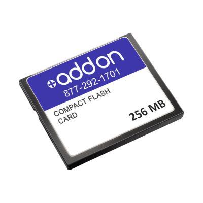 AddOn 256MB Cisco MAX-28/38-FLASH-BP Compatible Compact Flash - flash memory card - 256 MB - CompactFlash  Compatible 256MB Flash Upgrad e