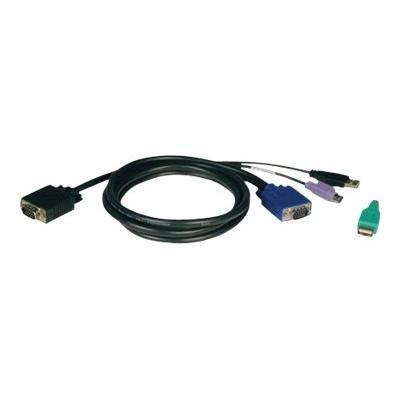 Tripp Lite 10ft USB / PS2 Cable Kit for KVM Switches B040 / B042 Series KVMs 10' - keyboard / video / mouse (KVM) cable kit - 3 m tController KVM Switches B040- Series and B042-Seri