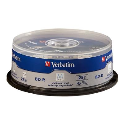 Verbatim M-Disc - BD-R x 25 - 25 GB - storage media ed Surface 25pk Spindle M DISC   Archival BD-R  BD-