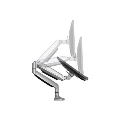 """StarTech.com Desk Mount Monitor Arm - Full Motion Articulating - Monitors 12"""" to 34"""" Adjustable VESA Single Monitor Arm - Desk & Grommet Clamp -Silver (ARMPIVOTHD) - mounting kit - for LCD display (adjustable arm)"""