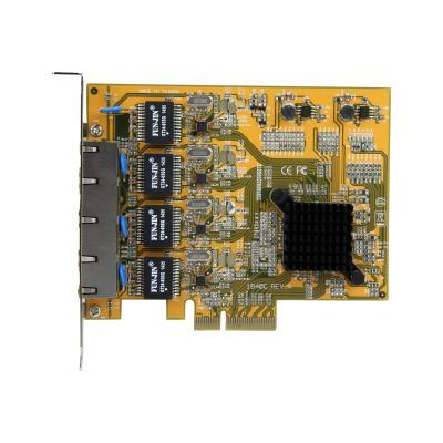 StarTech.com 4 Port PCIe Network Card - Low Profile - RJ45 Port - Realtek RTL8111G Chipset - Ethernet Network Card - NIC Server Adapter Network Card (ST1000SPEX43) - network adapter  ADAP