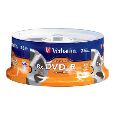 Verbatim DigitalMovie - DVD-R x 25 - 4.7 GB - storage media VD-R 4.7 GB 8x - spindle - sto rage media