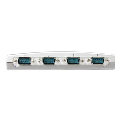 StarTech.com 4 Port USB to Serial RS232 Adapter - DB9M - RS232 Extension - Serial to USB (ICUSB2324) - serial adapter - USB - RS-232 x 4  any notebook or desktop compu ter using a single U
