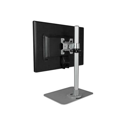 """StarTech.com Single Monitor Stand - Adjustable - Supports Monitors 12"""" to 34"""" - Premium - Single Screen VESA Monitor Mount Stand - Silver (ARMPIVSTND) - mounting kit - for LCD display your desk using this height-ad justable monitor mou"""