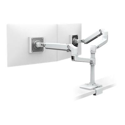 Ergotron LX Dual Stacking Arm - mounting kit - for 2 LCD displays IGHT WHITE