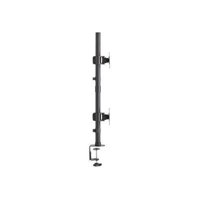 "Tripp Lite Dual Vertical Flat-Screen Desk Mount Monitor Stand Clamp Swivel Tilt 15"" to 27"" Flat Screen Displays - mounting kit N STND"