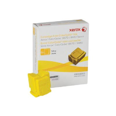 Xerox ColorQube 8870 - 6 - yellow - solid inks LORQUBE 8870 (6 STICKS)  NORTH  AMERICA