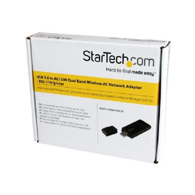 StarTech.com USB 3.0 AC1200 Dual Band Wireless-AC Network Adapter - network adapter  WRLS