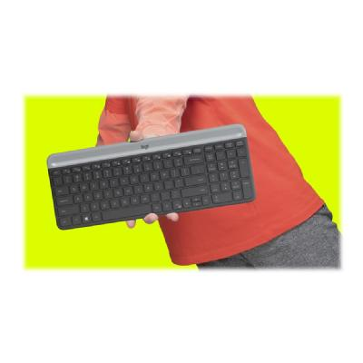 Logitech Slim Wireless Combo MK470 - keyboard and mouse set - graphite