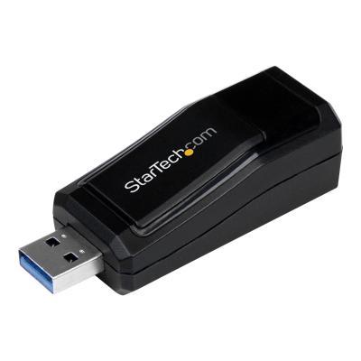 StarTech.com USB 3.0 to Gigabit Ethernet NIC Network Adapter - 10/100/100 Mbps Network Adapter - USB to Ethernet LAN Adapter - USB to RJ45 (USB31000NDS) - network adapter - USB 3.0 - Gigabit Ethernet onnectivity to a Laptop or Des ktop through a USB 3