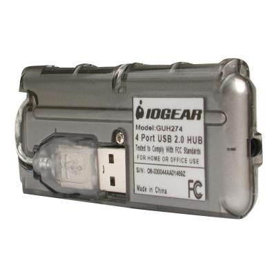 IOGEAR MicroHub GUH274 - concentrateur (hub) - 4 ports .0 - 480 Mbps - externe