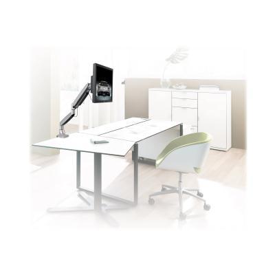 "StarTech.com Desk Mount Monitor Arm - Full Motion Articulating - Monitors 12"" to 34"" Adjustable VESA Single Monitor Arm - Desk & Grommet Clamp -Silver (ARMPIVOTHD) - desk mount (adjustable arm)  MNT"