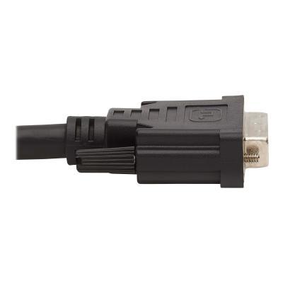 Tripp Lite DVI KVM Cable Kit - DVI, USB, 3.5 mm Audio (3xM/3xM) + USB (M/M), 1080p, 6 ft., Black - video / USB / audio cable kit - 1.83 m  CABL
