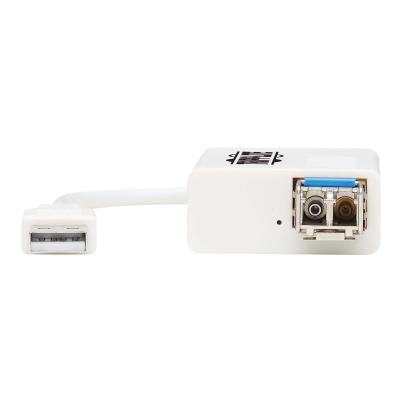 Tripp Lite USB 2.0 Ethernet Adapter - 10/100 Mbps, 100Base-FX, LC, Singlemode Fiber - network adapter 100 Mbps  100Base-FX  LC  Sing lemode Fiber  White