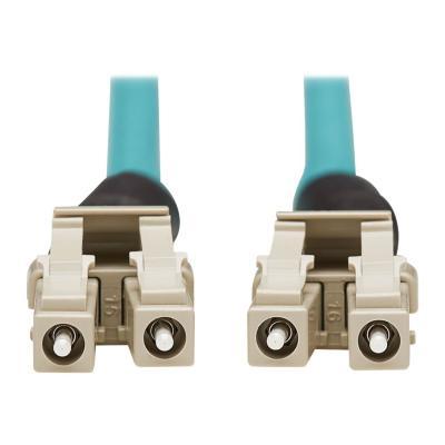 Tripp Lite 10Gb Rigid Industrial Duplex Multimode 50/125 OM3 Fiber Patch Cable (LC/LC) - IP68, Aqua, 10 m (32.8 ft.) - patch cable - 10 m - aqua  CABL