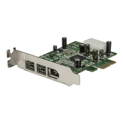 StarTech.com 3 Port 2b 1a Low Profile 1394 PCI Express FireWire Card Adapter - FireWire adapter - PCIe - 2 ports s to your low profile/small fo rm factor computer t