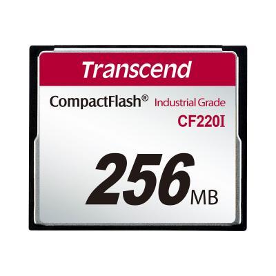 Transcend CF220I Industrial Temp - flash memory card - 256 MB - CompactFlash 5)