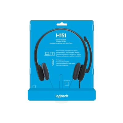 Logitech H151 Stereo Headset with Noise-Cancelling Mic - micro-casque