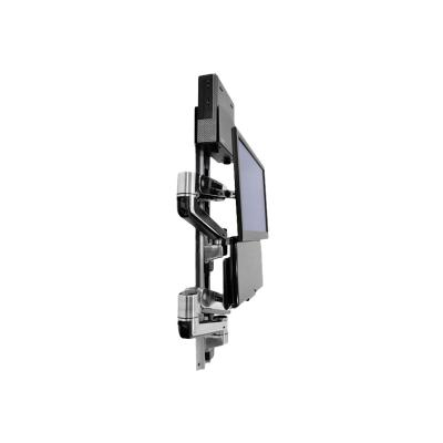 Ergotron LX Sit-Stand Wall Mount System - mounting kit - for LCD display / keyboard / mouse / CPU  with Small CPU Holder (polish ed aluminum  black C