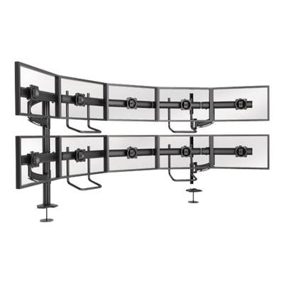 Chief Kontour Series K4G520B K4 5x2 Grommet Mounted Array - mounting kit - for 10 LCD displays - TAA Compliant  Array. Typical Screen Sizes: 19 to 24inch diagona