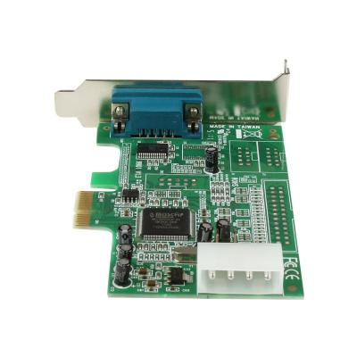 StarTech.com 1 Port Low Profile Native RS232 PCI Express Serial Card with 16550 UART (PEX1S553LP) - serial adapter - PCIe - RS-232 ur standard or small form fact or computer through