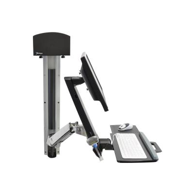 Ergotron StyleView Sit-Stand Combo System with Small CPU Holder - mounting kit - for LCD display / keyboard / mouse / barcode scanner / CPU SYSTEM W/ SMALL CPU