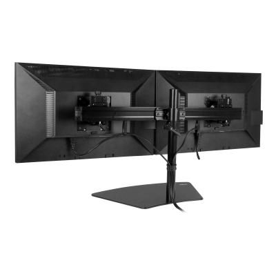 """StarTech.com Dual Monitor Mount - Supports Monitors 12"""" to 24"""" - Adjustable - VESA Monitor Stand for Desk - Low Profile Base - Horizontal - Black (ARMBARDUO) - stand - for LCD display (adjustable arm) o monitors horizontally with t his dual monitor sta"""