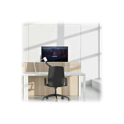 """StarTech.com Acrylic Shield/Sneeze Guard, Clear Protective Barrier for Office Desk/POS Counter, 35""""x45"""", For Single VESA Mounted Monitor, Transparent Safety Cough Shield/Screen, Easy Clean - Sneeze & Cough Guard (MONPROTECT) - sneeze guard - monitor mountable - 110 x 88.9 cm - clear transparent"""