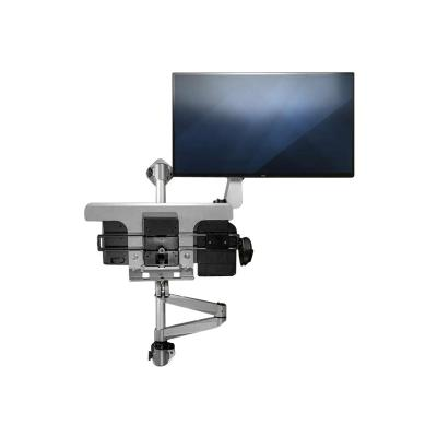 "StarTech.com Wall Mounted Computer Workstation - Premium - Single Monitor - 13"" to 34"" - Articulating - Sit Stand Workstation - Silver (WALLSTSI1) - mounting kit  STND"