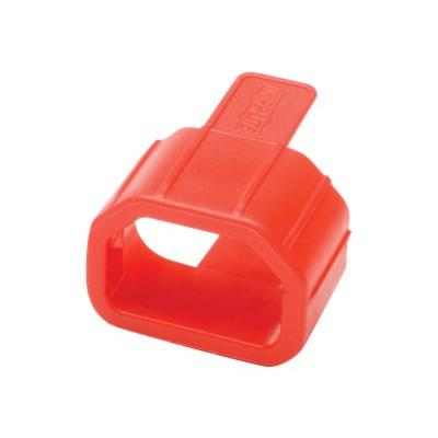 Tripp Lite PDU Plug Lock Connector C14 Power Cord to C13 Outlet Red 100pk cable removal lock wer Cord to C13 Outlet Red 100 PK