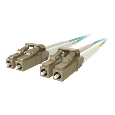 Belkin 2M Fiber Optic Cable; 10GB Aqua Multimode LC/LC Duplex, 50/125 OM3 - patch cable - 2 m - aqua  CABL