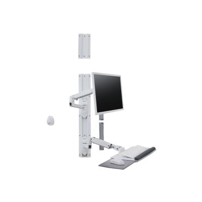 Ergotron LX Wall Mount System - mounting kit - for LCD display / keyboard / mouse no CPU holder)